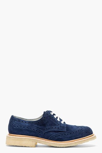 brogues shoes suede menswear casual shoes softy bourton navy