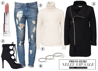 passions for fashion blogger make-up shoes jeans coat jewels
