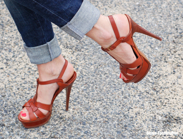 shoes sandals brown high heels
