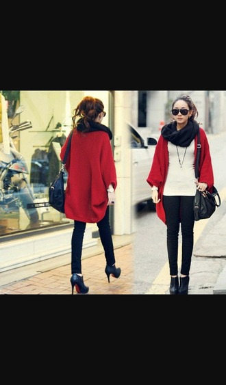 pants leggings jeggings cardigan coat red coat red lime sunday