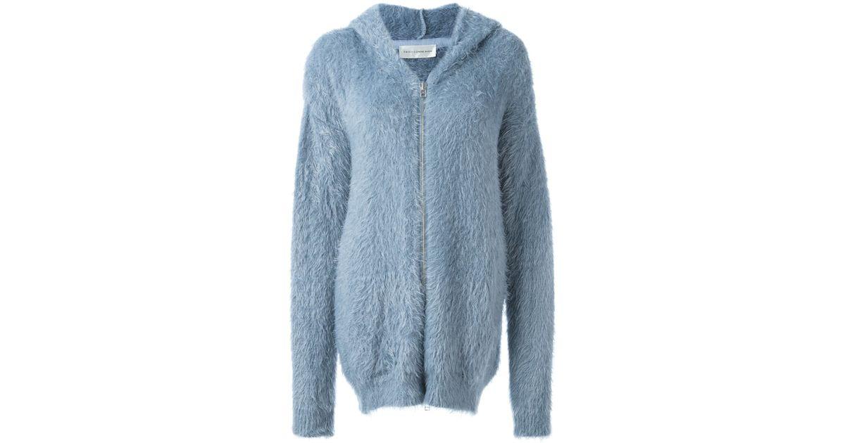 Faith Connexion - Blue - Faux Fur Zipped Coat - Women - Polyamide - S - Lyst