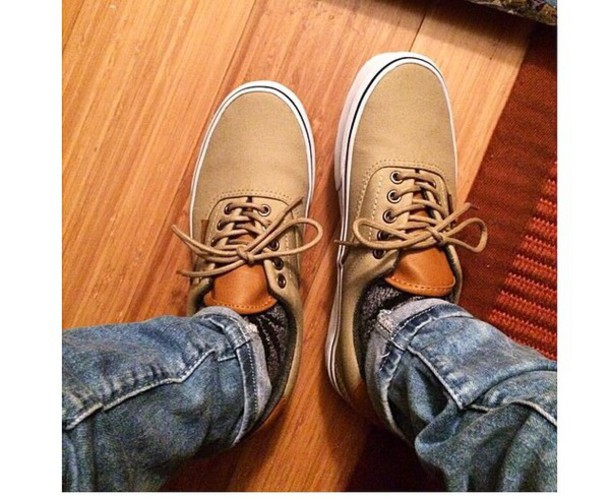 shoes khaki vans vans