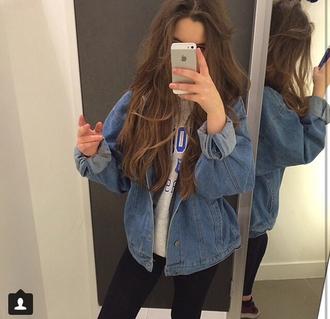 jacket jeans denim denim jacket outerwear mirror mirror selfie changing room grunge grunge jean jacket