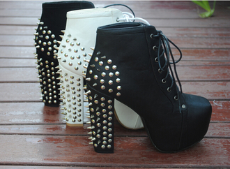 shoes rivet high heel shoes high heels high clouté clogs
