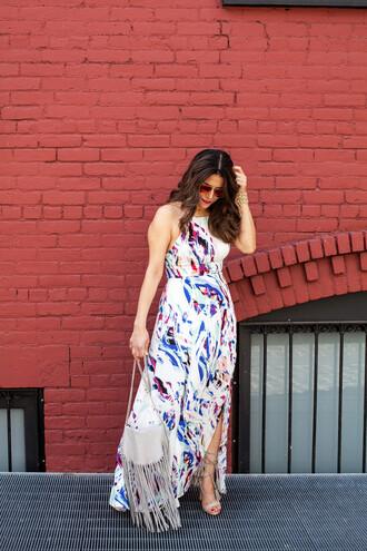 dress eight sixty maxi dress floral white sleeveless revolve clothing revolve revolveme