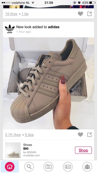 shoes superstar nude kulie jenner adidas shoes adidas adidas superstars original superstars 2 nude sneakers love kanye west adidas originals adidas supercolor