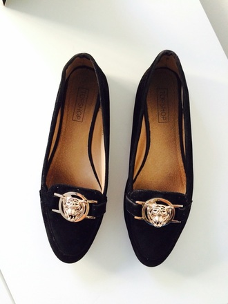 shoes topshop loafers black flats