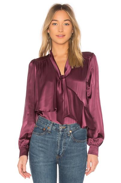 Parker blouse purple top