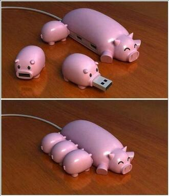 jewels pig piggy animal usb flash drive computer technology accessories accessory cute happy pink fashion earphones home accessory