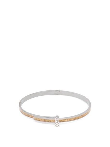 Bottega Veneta silver bracelet silver gold jewels