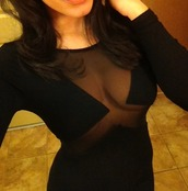 dress,pretty,black,sexy,party,clubwear,little black dress,cleavage