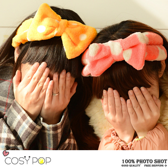 hair accessory bows vintage polka dots style girly cute headband hair bow trendy spring outfits girl cosmetics accessory make-up