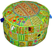 home accessory,indian pouf,footstool,bean bag,floor pillow,ottoman pouf,floor cushion,patchwork pouf,vintage indian pouf,chair