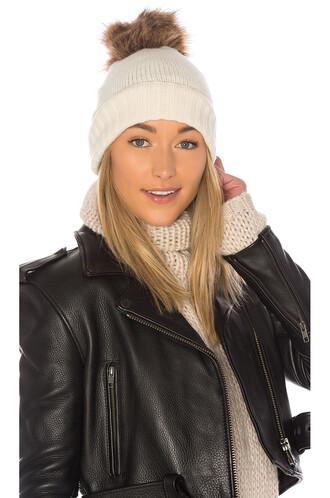 fur faux fur beanie hat