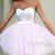 Pink Sweetheart Tulle Sequins Short Prom Dress, Homecoming Dress - 24prom