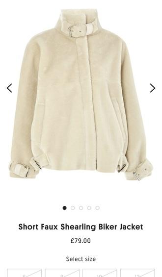 jacket topshop shearling jacket