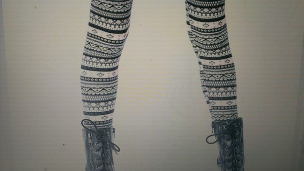 leggings chevron aztec thin fabric