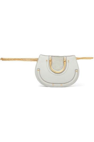belt bag mini light bag leather suede
