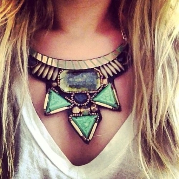 jewels necklace statement necklace gemstone glamour goddess gold diamonds sexy sassy fashionholic