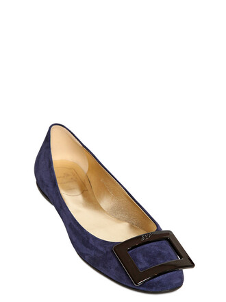flats suede navy black shoes