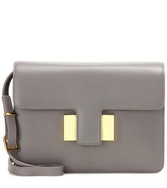 bag shoulder bag leather grey