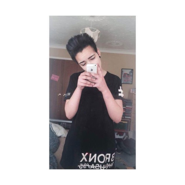 t-shirt bronx black black and white smart casual style black t-shirt