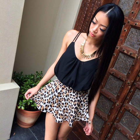 Purrfect Escape Skort | Honey Peaches