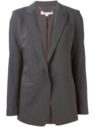 blazer women spandex wool grey jacket