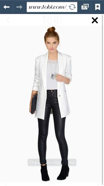 jacket white blazer