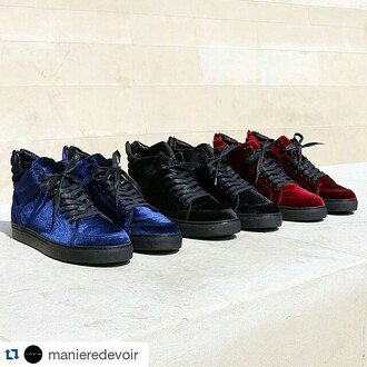shoes maniere de voir trainers sneakers velvet virtue