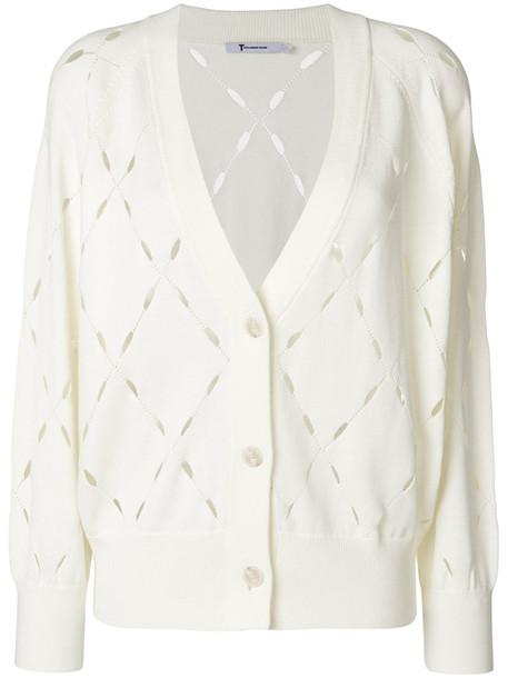 cardigan cardigan women laser cut white cotton sweater
