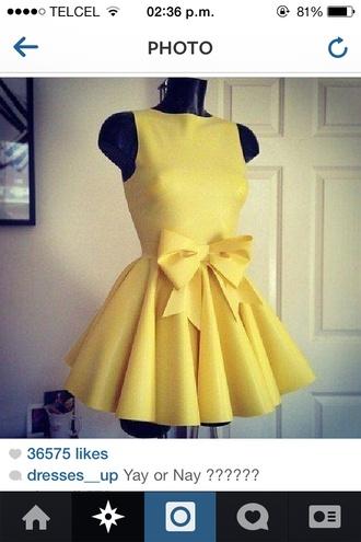 dress yellow dress minion dress skater skirt circle skirt bow