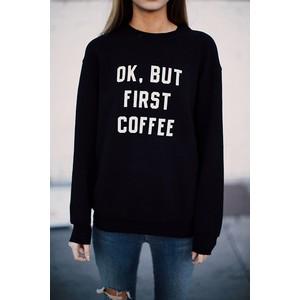 Erica but first coffee sweatshirt