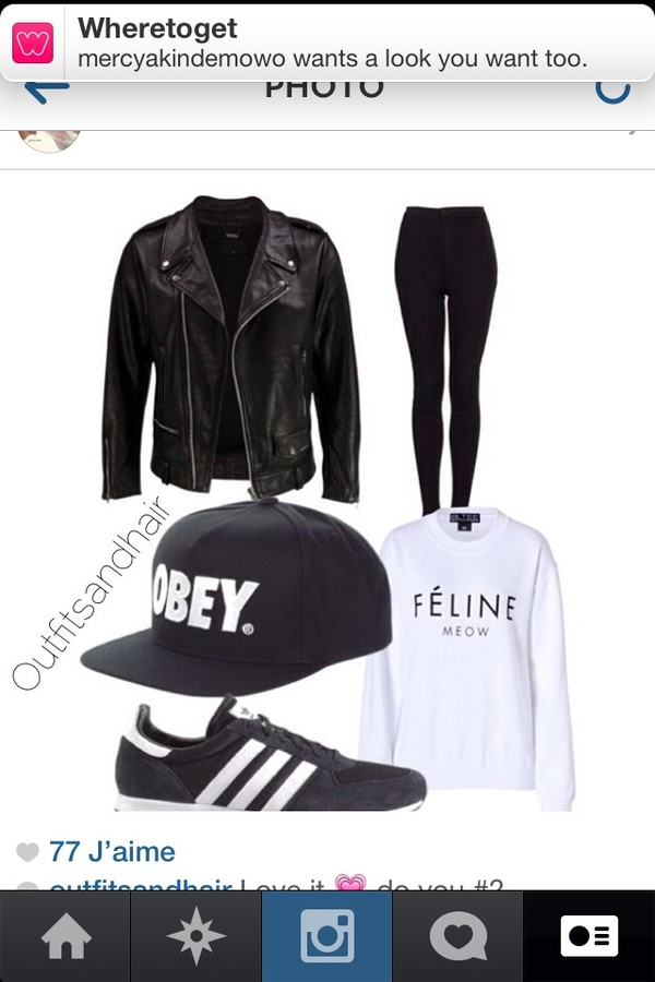 jacket hat shoes pants sweater