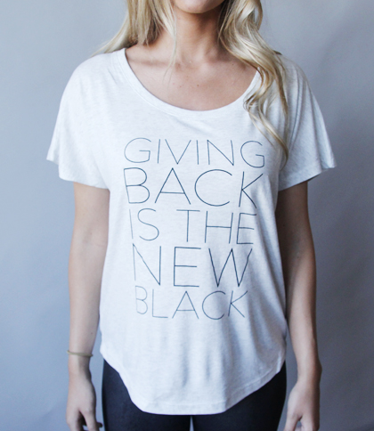 GIVING BACK IS THE NEW BLACK T-Shirt | HALF UNITED