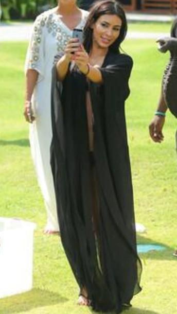 dress black kim kardashian cover up