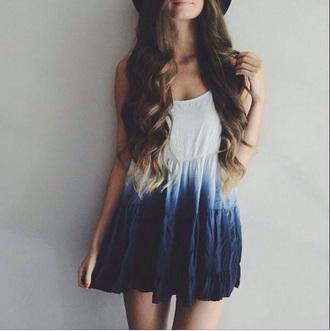dress ombre fashion blue style