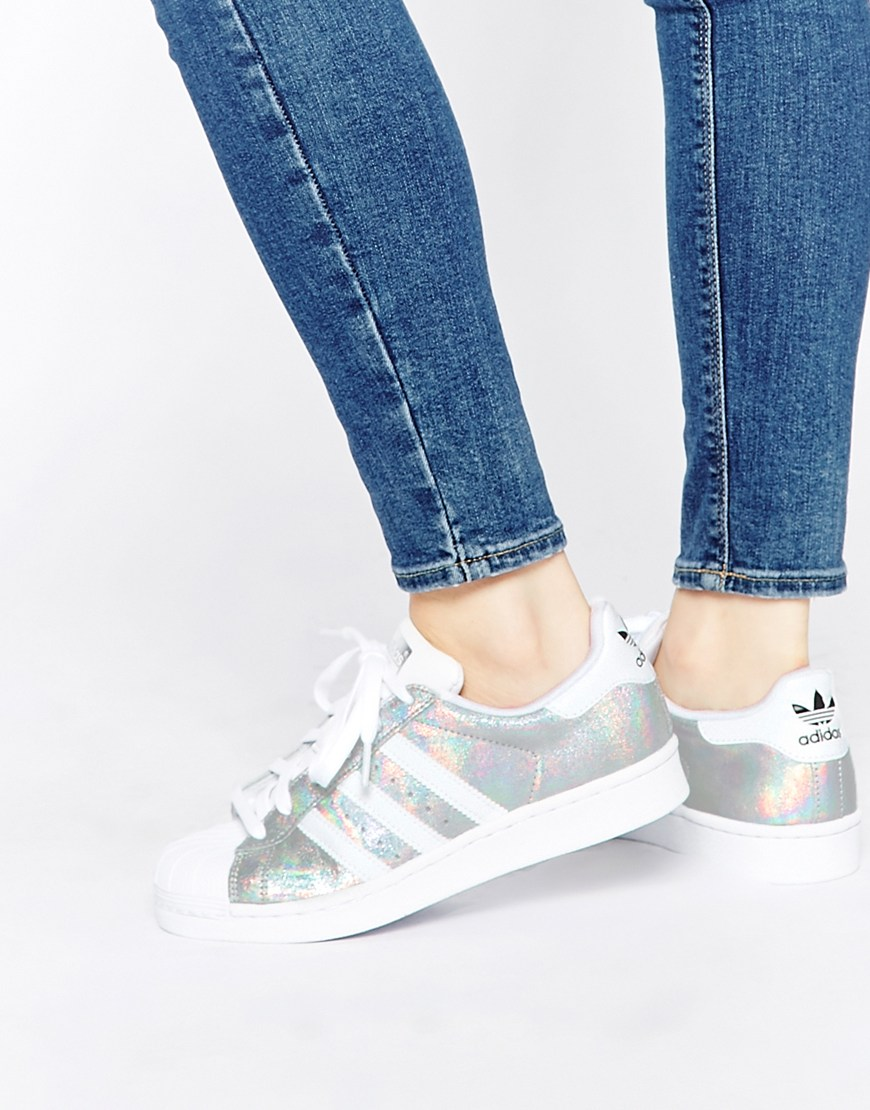 shoes, adidas superstar 2 silver snake, shiny, adidas shoes