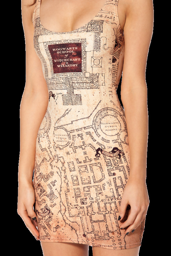 Milk Inside Marauders Map Dress Medium | eBay