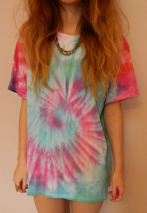 blouse t-shirt top grunge tie dye