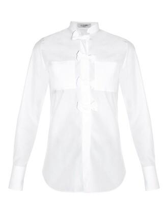 shirt bow white top
