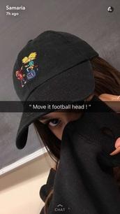 hat,hey arnold,samaria leah,dad hat
