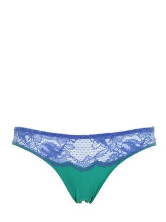 lace blue green underwear