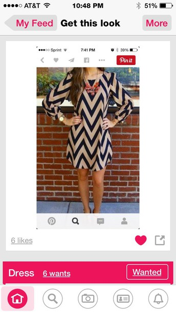 dress chevron black