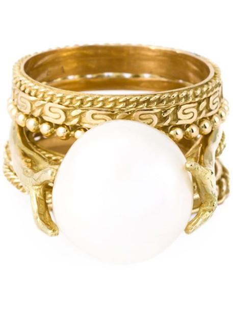 Wouters & Hendrix Gold women pearl white jewels