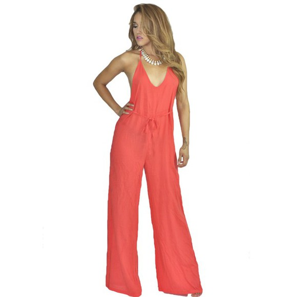jumpsuit sexy dress romper comfy outfits casual orange dress orange summer dress summer outfits party clubwear resort dress resort vacation