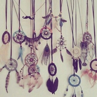 jewels dreamcatcher dreamcatcher jewelry neclaces fashion becklace hipster jewelry hippie swag hats