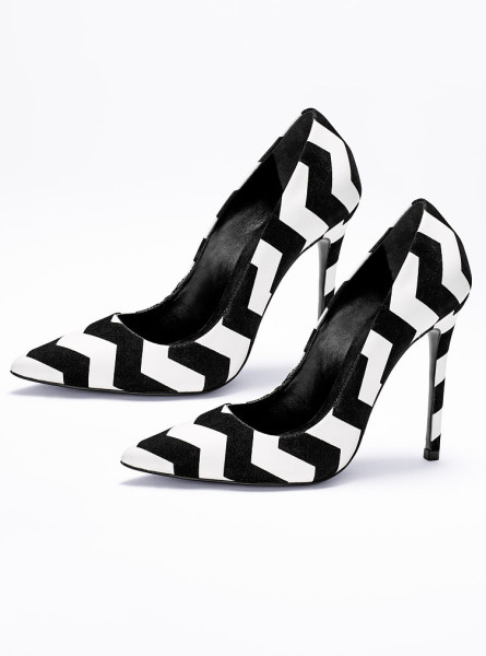 Victoria's Secret Gilberta Zigzag Pump in Black (black/white) | Lyst