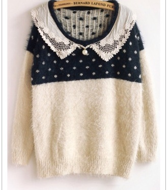 sweater white blue bows oversized sweater tumblr outfit lace tumblr sweater tumblr instagram navy buttons