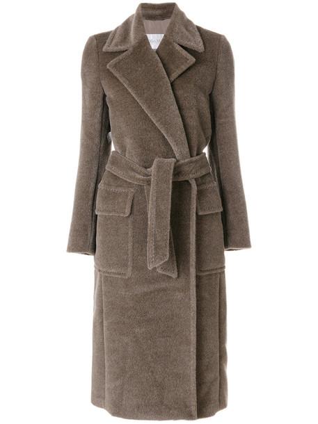 coat women classic wool brown